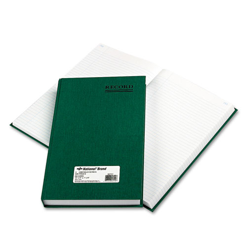 Emerald Series Account Book, Green Cover, 500 Pages, 12 1/4 x 7 1/4 | by Plexsupply