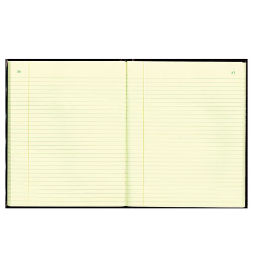 Texthide Record Book, Black/Burgundy, 150 Green Pages, 10 3/8 x 8 3/8 | by Plexsupply