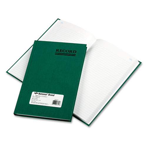 Emerald Series Account Book, Green Cover, 200 Pages, 9 5/8 x 6 1/4 | by Plexsupply