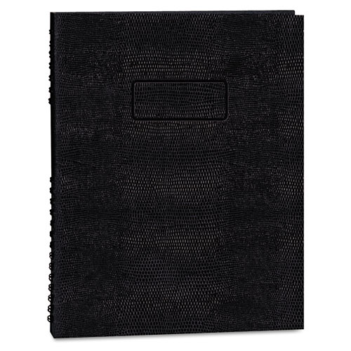 EcoLogix NotePro Executive Notebook, Medium/College Rule, Black, 11 x 8.5, 100 Sheets | by Plexsupply