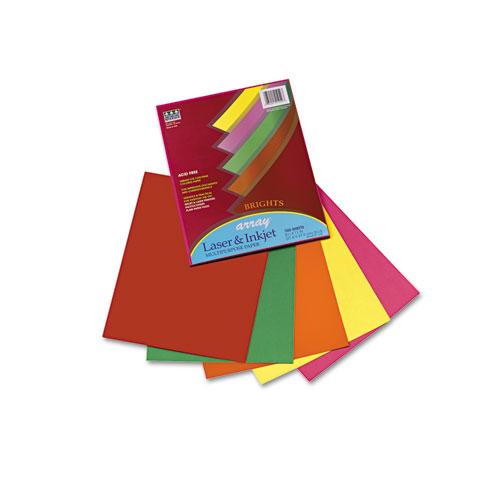 Array Colored Bond Paper, 20lb, 8.5 x 11, Assorted Bright Colors, 100/Pack