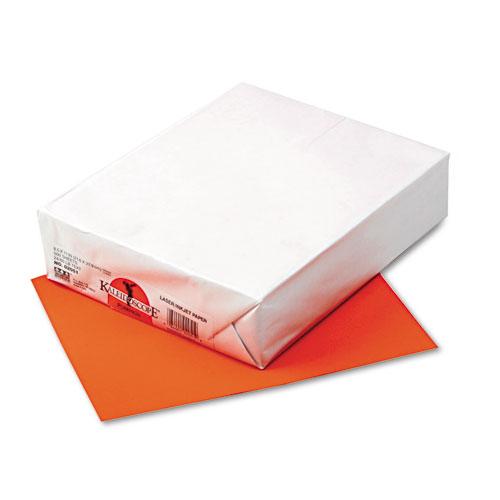Kaleidoscope Multipurpose Colored Paper, 24lb, 8.5 x 11, Pumpkin, 500/Ream