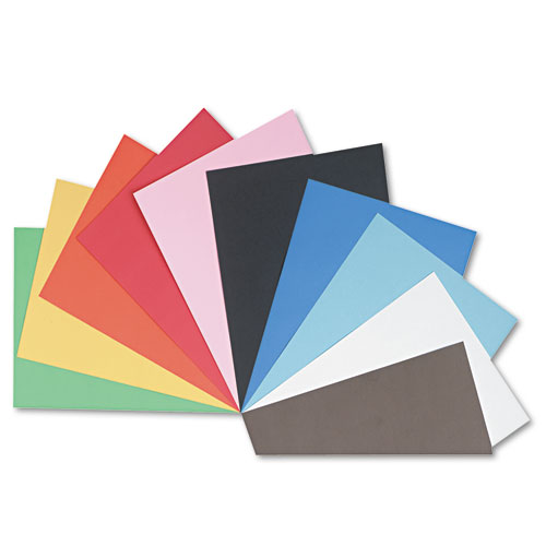 Tru-Ray Construction Paper, 76lb, 18 x 24, Assorted, 50/Pack | by Plexsupply