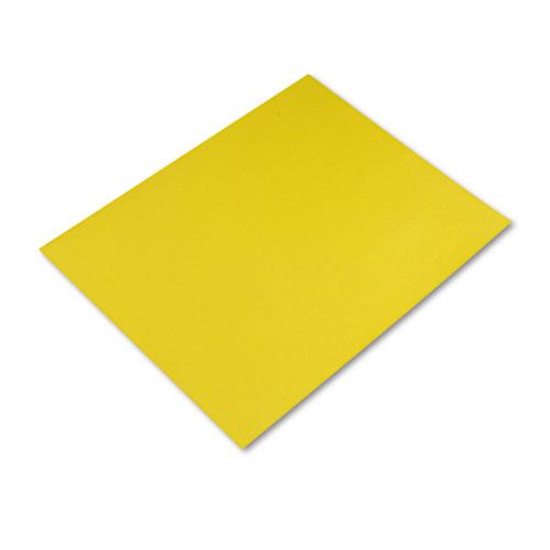 Four-Ply Railroad Board, 22 x 28, Lemon Yellow, 25/Carton | by Plexsupply