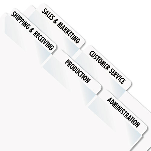 photograph regarding Printable Self Adhesive Tabs identified as Redi-Tag® Laser Printable Index Tabs, 2 x 7/8, White, 300
