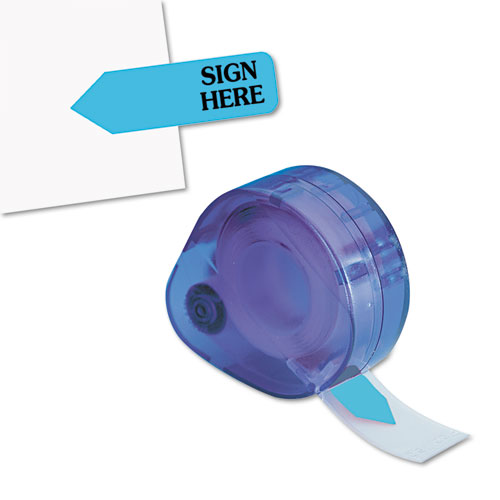 """Arrow Message Page Flags in Dispenser, """"Sign Here"""", Blue, 120 Flags/Dispenser 