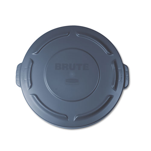 Flat Top Lid for 20 gal Round BRUTE Containers, 19.88 diameter, Gray