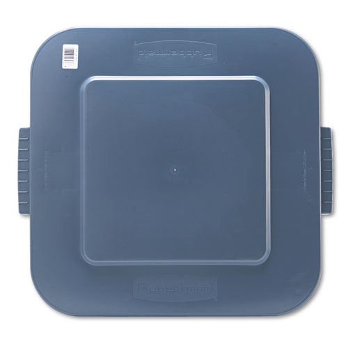 Rubbermaid® Commercial Square Brute Lid, 24 x 24 x 2 1/5, Gray
