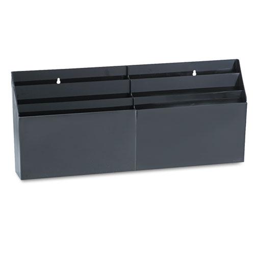 Optimizers Six-Pocket Organizer, 26 21/32 x 3 4/5 x 11 9/16, Black