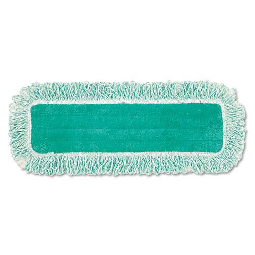 "Rubbermaid® Commercial Dust Pad w/Fringe, Microfiber, 18"" Long, Green"