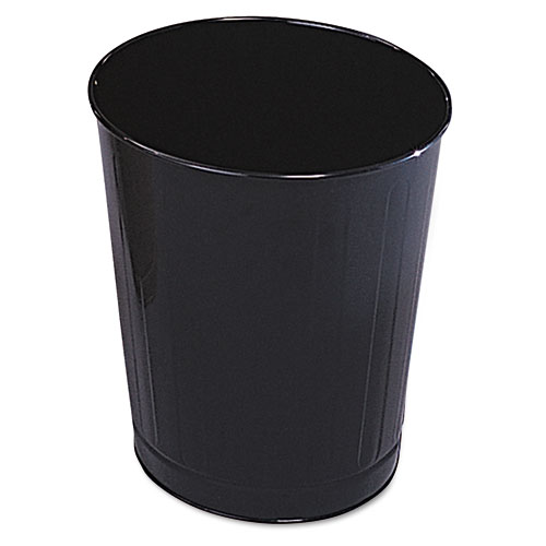 Rubbermaid® Commercial Fire-Safe Wastebasket, Round, Steel, 6.5 gal, Almond