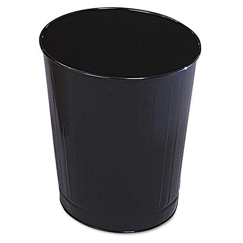 Rubbermaid® Commercial Fire-Safe Wastebasket, Round, Steel, 6 1/2 gal, Black