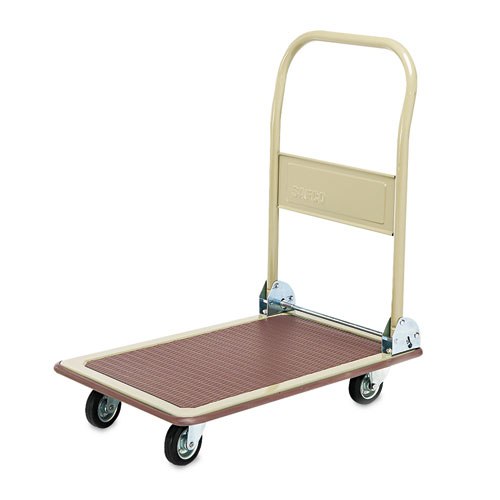 FoldAway Platform Trucks, 700 lb, 18.5 x 28.5 x 32, Tropic Sand/Brown | by Plexsupply