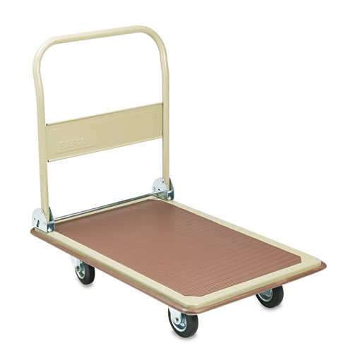 FoldAway Platform Trucks, 900 lb, 24 x 34 x 36, Tropic Sand/Brown | by Plexsupply