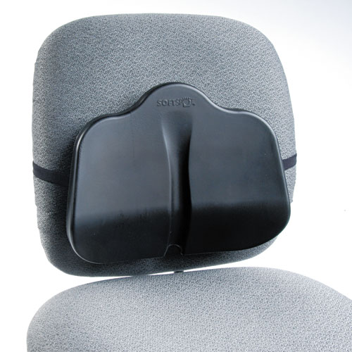 Low Profile Backrest, 14w x 2.5d x 11h, Black