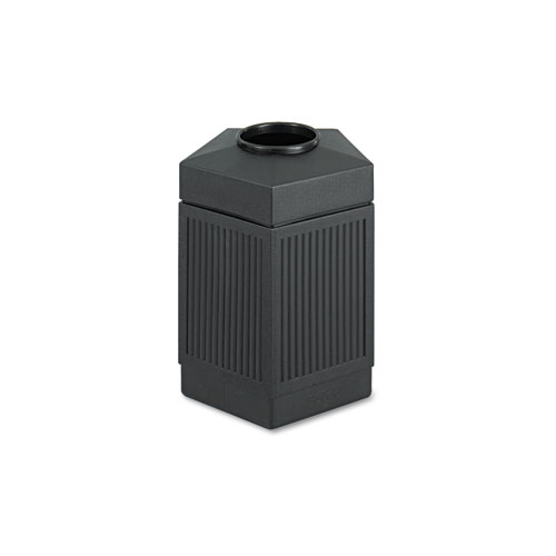 Canmeleon Indoor/Outdoor Receptacle, Pentagon, Polyethylene, 45 gal, Black