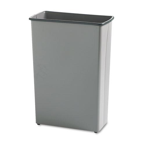 Safco® Rectangular Wastebasket, Steel, 22 gal, Charcoal