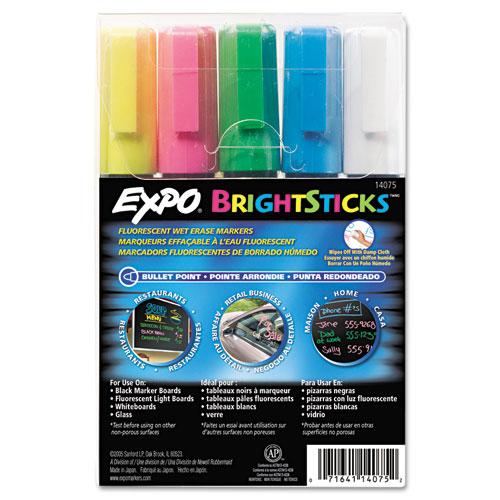 SAN14075 Expo Bright Sticks Wet-Erase Fluorescent Markers