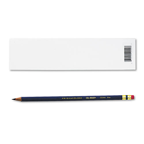 Col-Erase Pencil with Eraser, 0.7 mm, 2B (#1), Blue Lead, Blue Barrel, Dozen | by Plexsupply