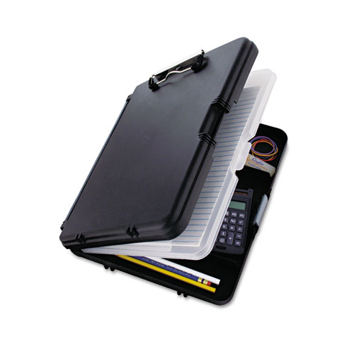 """WorkMate II Storage Clipboard, 1/2"""" Capacity, Holds 8-1/2w x 12h, Black/Charcoal 