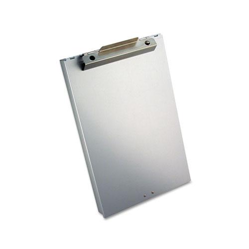 """Redi-Rite Aluminum Storage Clipboard, 1"""" Clip Cap, Holds 8.5 x 12 Sheets, Silver"""