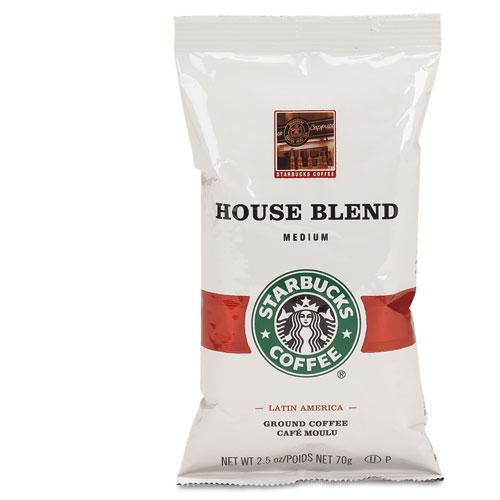 Coffee, Regular House Blend, 2.5oz Packet, 18/Box | by Plexsupply