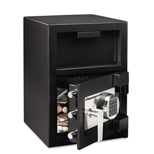 Digital Depository Safe, Extra Large, 1.3 cu ft, 14w x 15.6d x 24h, Black | by Plexsupply
