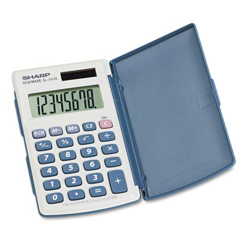 EL-243SB Solar Pocket Calculator, 8-Digit LCD - Office Source 360