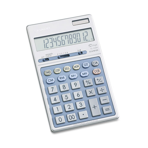 EL339HB Executive Portable Desktop/Handheld Calculator, 12-Digit LCD | by Plexsupply