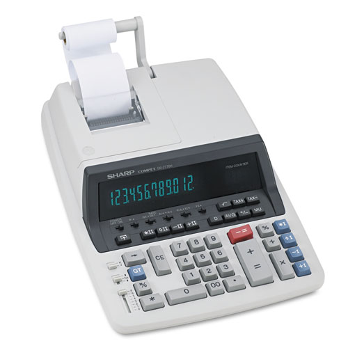 QS-2770H Two-Color Ribbon Printing Calculator, Black/Red Print, 4.8 Lines/Sec | by Plexsupply