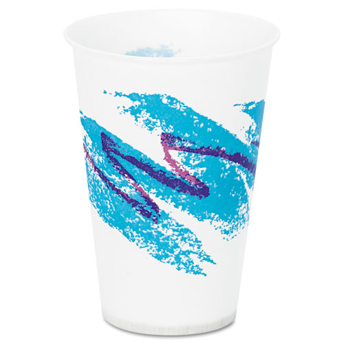 Jazz Waxed Paper Cold Cups, 7oz, Tide Design, 100/Pack, 20 Packs/Carton R7NJ