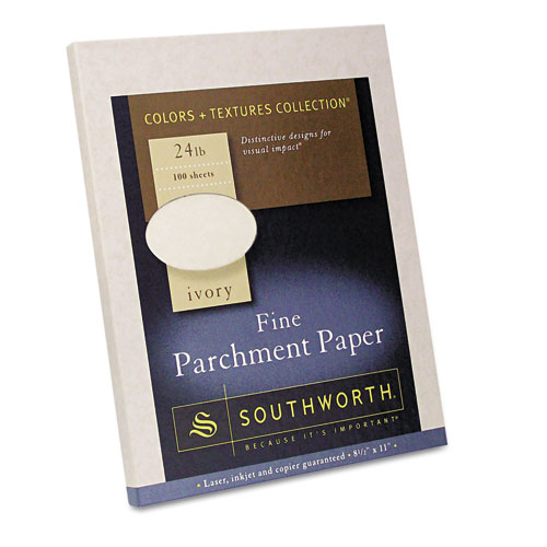 southworth 174 parchment specialty paper ivory 24lb 8 1 2