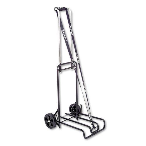Luggage Cart, 250lb Capacity, 12 1/4 x 13 Surface, Black/Chrome