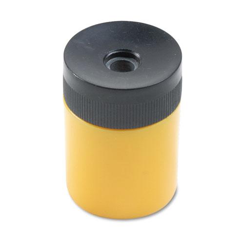 Handheld Barrel Manual Pencil Sharpener, Assorted Canister Colors w/Black Top