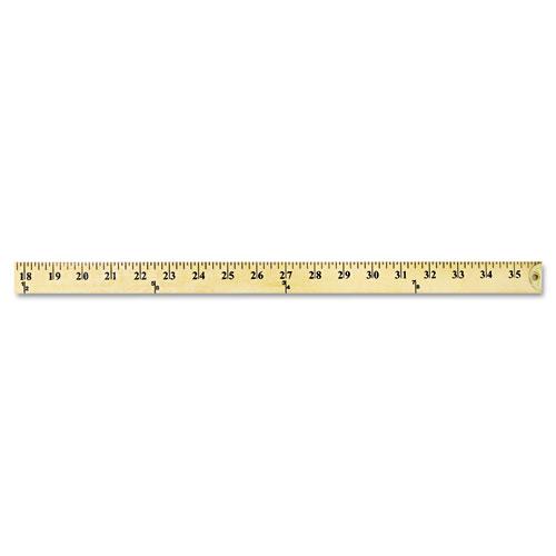 "Wood Yardstick with Metal Ends, 36"" | TheGreenOffice.com"
