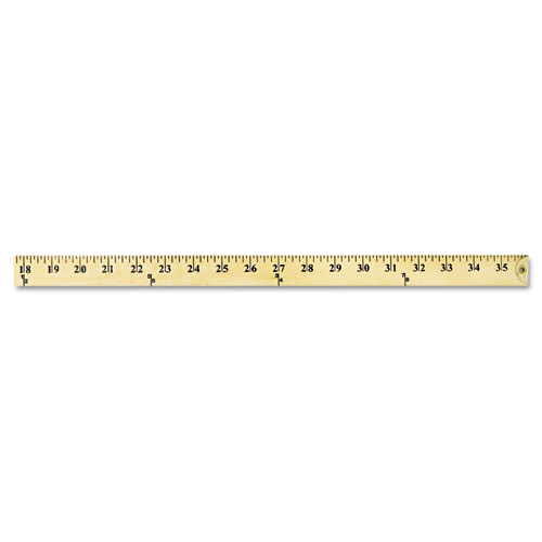 "Wood Yardstick with Metal Ends, 36"" - Sani-Chem Supplies"
