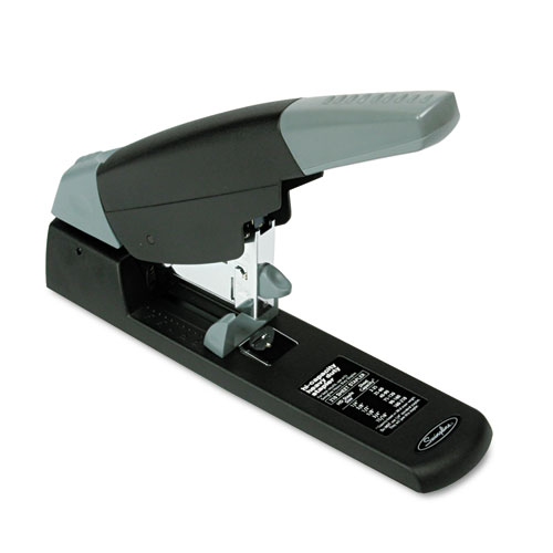 High-Capacity Heavy-Duty Stapler, 210-Sheet Capacity, Black | by Plexsupply