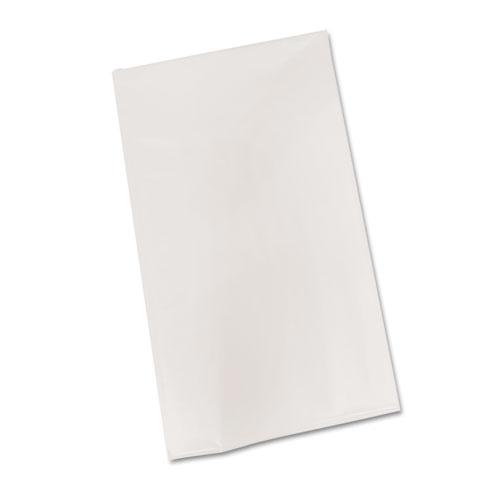 Bio-Degradable Plastic Table Cover, 54 x 108, White, 6/Pack