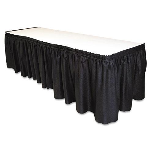 Table Set Linen-Like Table Skirting, 29 x 14ft, Black