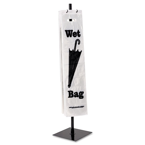 Wet Umbrella Bag Stand, Powder Coated Steel, 10w x 10d x 40h, Black | by Plexsupply