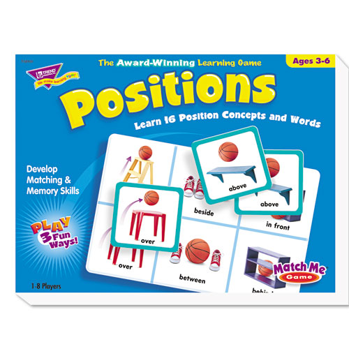 Positions Match Me Puzzle Game, Ages 5-8 | by Plexsupply
