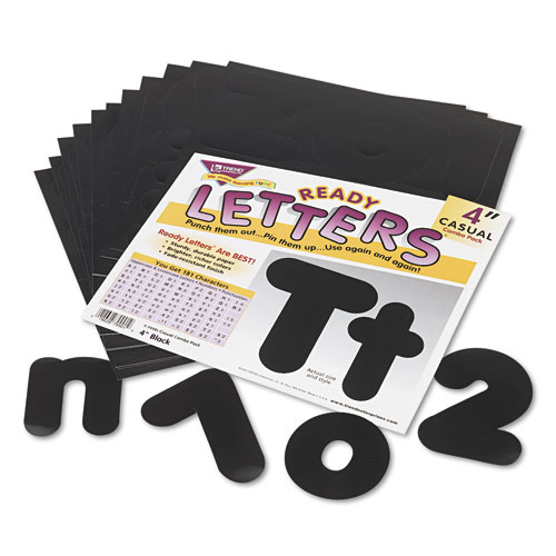 "Ready Letters Casual Combo Set, Black, 4""h, 182/Set 