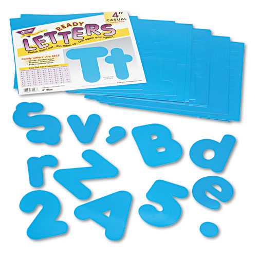 "Ready Letters Casual Combo Set, Blue, 4""h, 182/Set 