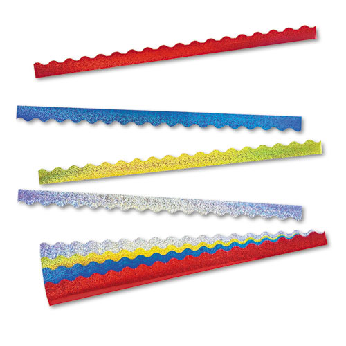 Terrific Trimmers Sparkle Border Variety Pack, 2 1/4 x 39 Panels, Asstd, 40/Set | by Plexsupply