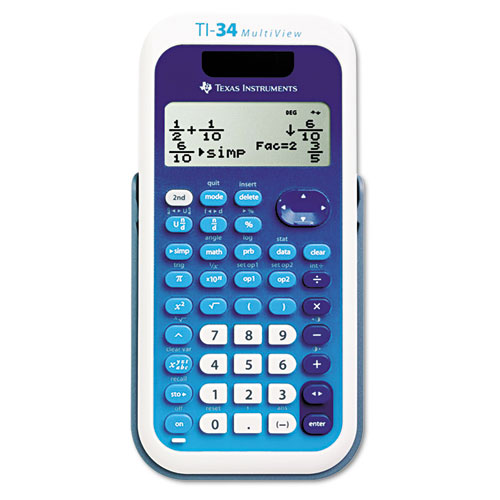 TI-34 MultiView Scientific Calculator, 16-Digit LCD | by Plexsupply