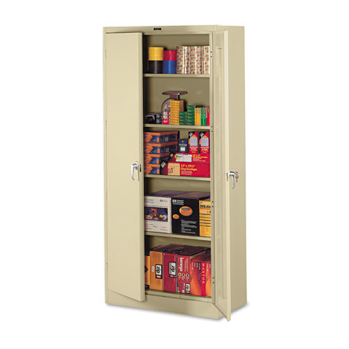 78 High Deluxe Steel Storage Cabinet 36w X 24d X 78h Sand
