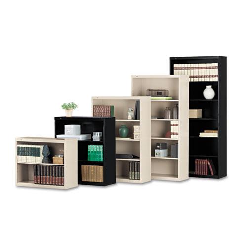Tennsco Metal Bookcase, Two-Shelf, 34-1/2w x 13-1/2d x 28h, Black