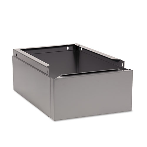 Optional Locker Base, 12w x 18d x 6h, Medium Gray