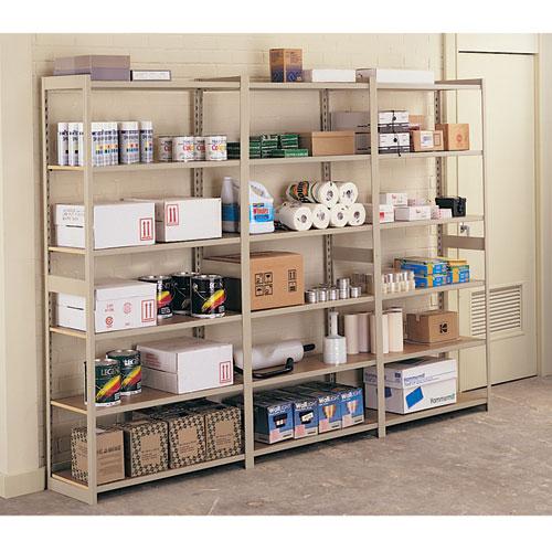 Tennsco Regal Shelving Add-On Unit, Six-Shelf, 36w x 12d x 76h, Sand