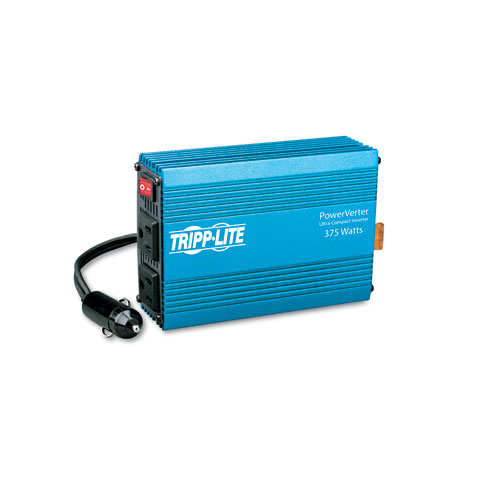 PowerVerter Ultra-Compact Car Inverter, 375W, 12V Input/120V Output, 2 Outlets